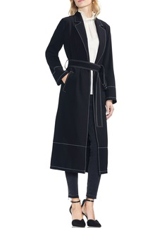 Vince Camuto Stetch Crepe Trench Coat (Regular & Petite)