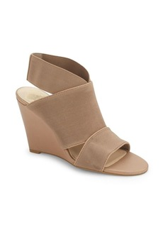 Vince Camuto Strappy Leather-Blend Wedge Sandals