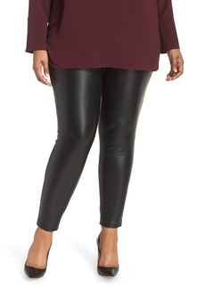 Vince Camuto Stretch Faux Leather Skinny Pants (Plus Size)