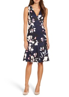Vince Camuto Stretch Fit & Flare Dress