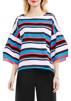Vince Camuto Stripe Bell Sleeve Blouse