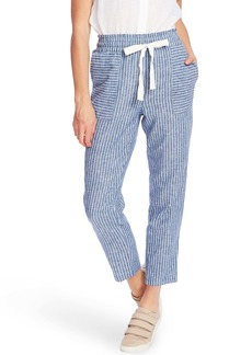 Vince Camuto Stripe Cotton & Linen Pants