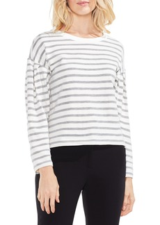 Vince Camuto Stripe Drop Shoulder Top