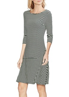 Vince Camuto Stripe Drop Waist Dress
