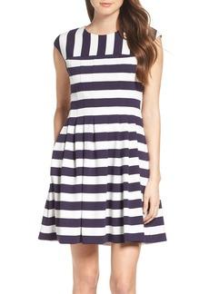 Vince Camuto Stripe Fit & Flare Dress