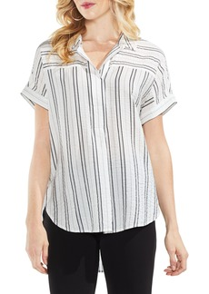 Vince Camuto Stripe Henley Blouse