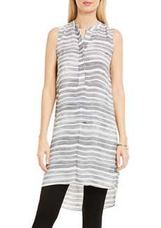 Vince Camuto Stripe Henley Tunic