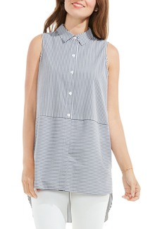 Vince Camuto Stripe High/Low Blouse