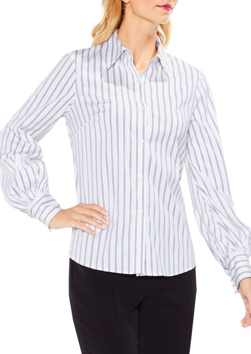 27a45b5b4 Vince Camuto Vince Camuto Stripe Lace-Up Back Button-Down Shirt ...