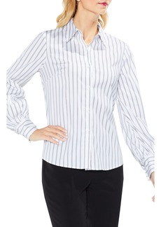 Vince Camuto Stripe Lace-Up Shirt