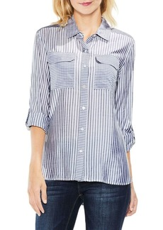 Vince Camuto Stripe Long-Sleeve Blutton-Down