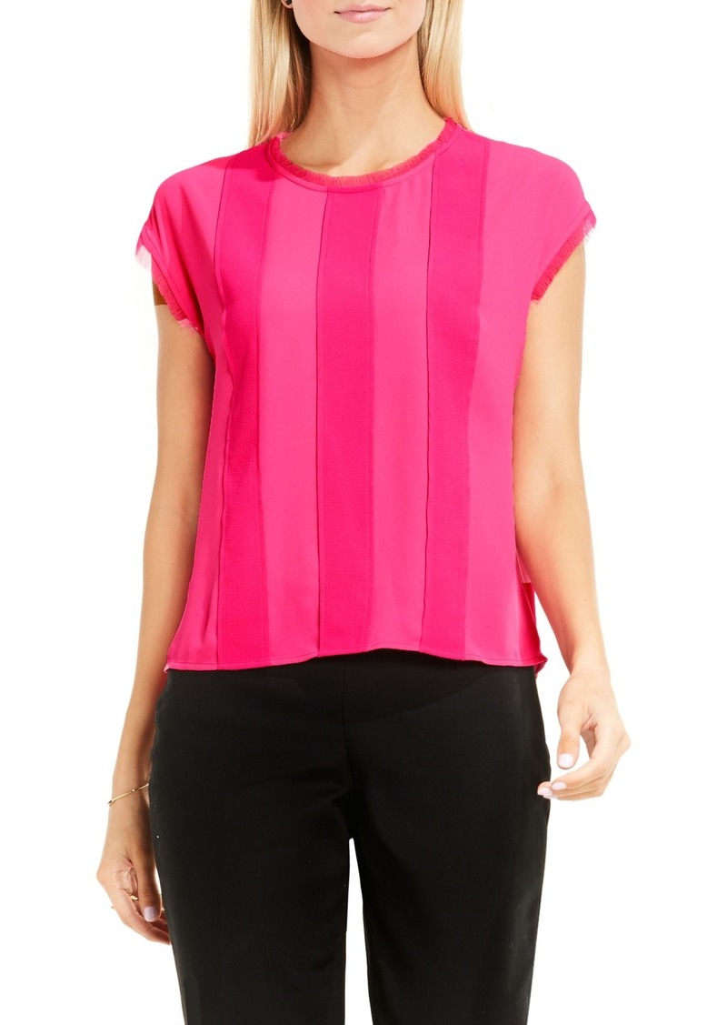 Vince Camuto Stripe Panel Blouse