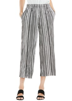 Vince Camuto Stripe Pleat Knit Crop Pants