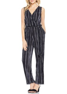 Vince Camuto Stripe Pleat Knit Jumpsuit