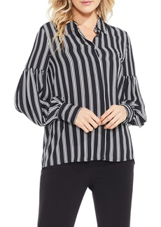 Vince Camuto Stripe Puff Sleeve Blouse