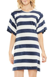 Vince Camuto Stripe Ruffle-Sleeve Shift Dress