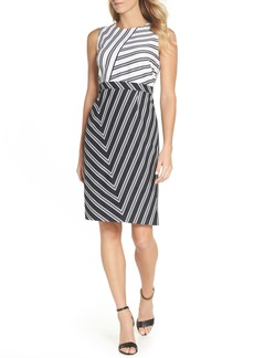Vince Camuto Stripe Sheath Dress (Regular & Petite)