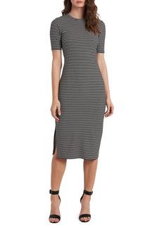 Vince Camuto Stripe Short Sleeve Midi Dress
