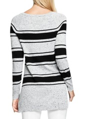 Vince Camuto Stripe Speckled Sweater