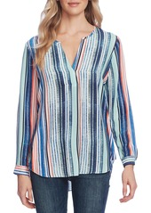 Vince Camuto Stripe Split Neck Top