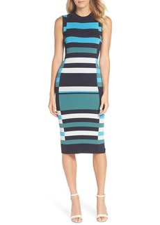 Vince Camuto Stripe Sweater Dress (Regular & Petite)