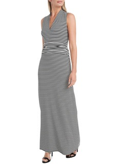 Vince Camuto Stripe Vibrations Jersey Maxi Dress