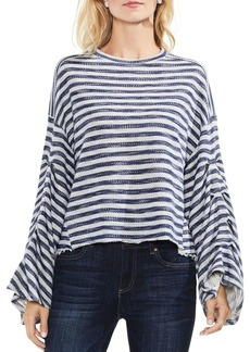 VINCE CAMUTO Striped Bell-Sleeve Sweater