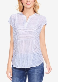 Two By Vince Camuto Striped Cap-Sleeve Top