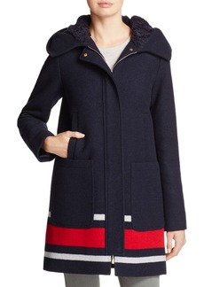 VINCE CAMUTO Striped Coat - 100% Exclusive