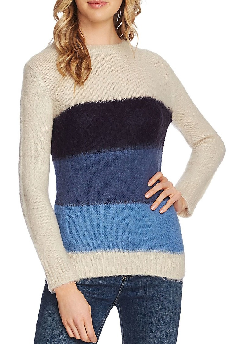 VINCE CAMUTO Striped Crewneck Sweater