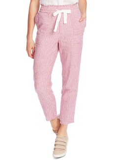 Vince Camuto Striped Drawstring-Waist Pants