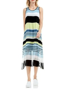 Vince Camuto Striped Harmony Chiffon Dress