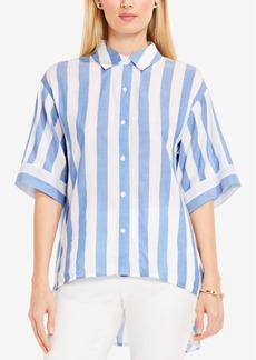 Vince Camuto Striped High-Low Shirt