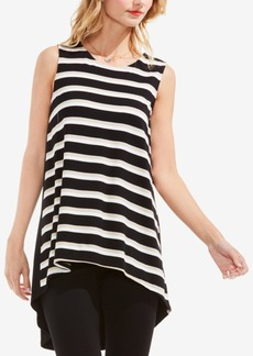 Vince Camuto Striped High-Low Tunic
