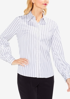 Vince Camuto Striped Lace-Up-Back Blouse