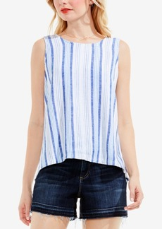 Two by Vince Camuto Striped Lace-Up Top