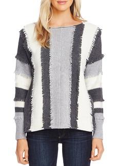 VINCE CAMUTO Striped Loop-Stitch Trim Sweater