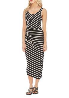 VINCE CAMUTO Striped Midi Dress