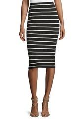 Vince Camuto Striped Midi Pencil Skirt