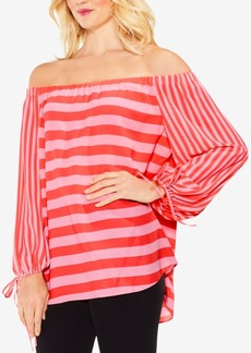 Vince Camuto Striped Off-The-Shoulder Top