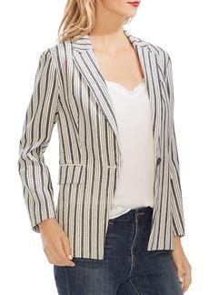 VINCE CAMUTO Striped One-Button Blazer