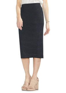 Vince Camuto Striped Ribbed Midi Skirt