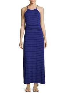 Vince Camuto Striped Ruched Maxi Dress