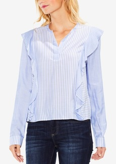 Vince Camuto Striped Ruffled Blouse