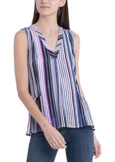 Vince Camuto Striped Ruffled Top