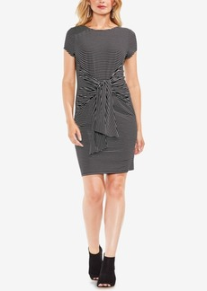 Vince Camuto Striped Tie-Front Dress
