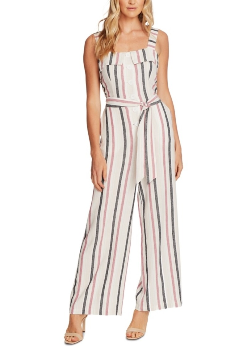 Vince Camuto Striped Tie-Front Jumpsuit