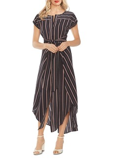 VINCE CAMUTO Striped Tie-Front Maxi Dress