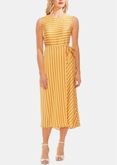 Vince Camuto Striped Tie-Side Dress