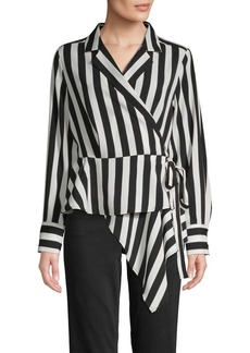 Vince Camuto Striped Wrap Blouse